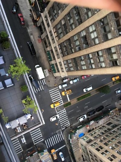 Blick von einer typischen Rooftop-Bar in New York