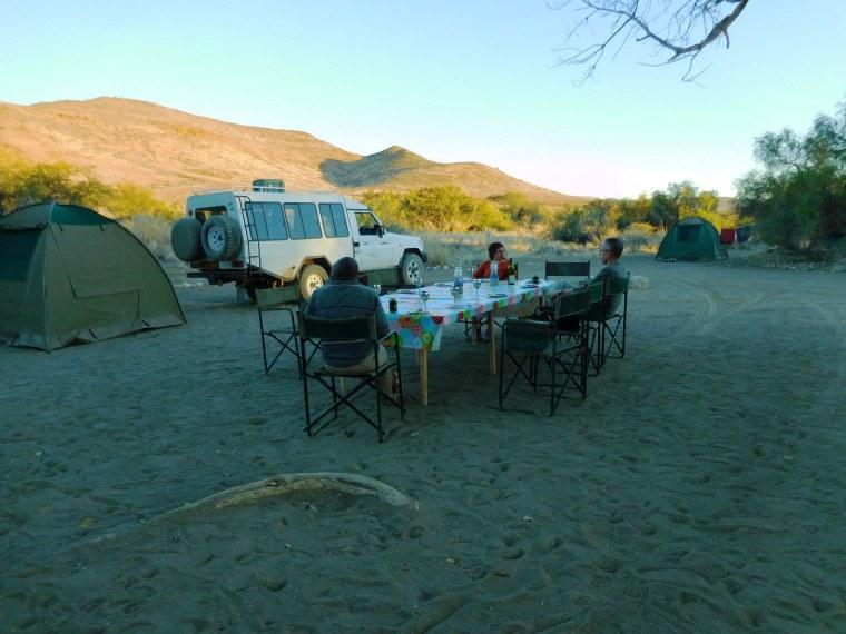 Camping im Outback Namibias