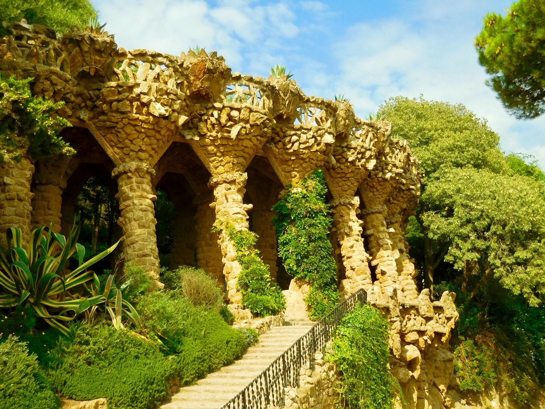 Viadukt im Park Güell, Barcelona