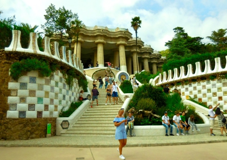 Eingang zum Park Güell in Barcelona