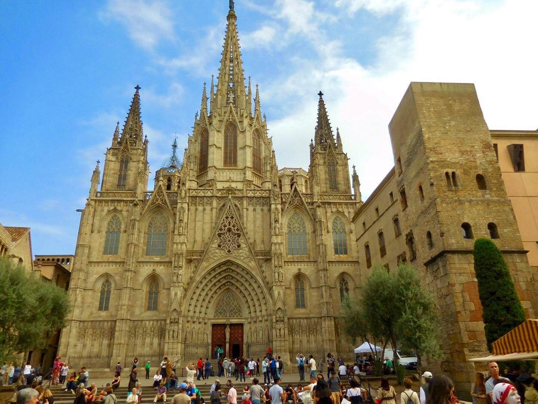 Kathedrale im Gothischen Viertel von Barcelona