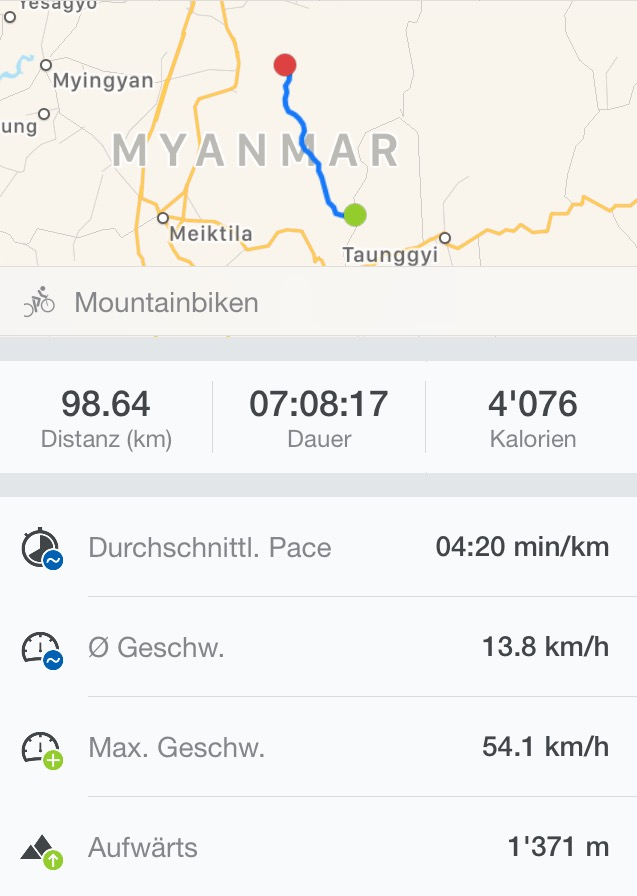 Screenshot der Tracking-App Runtastic