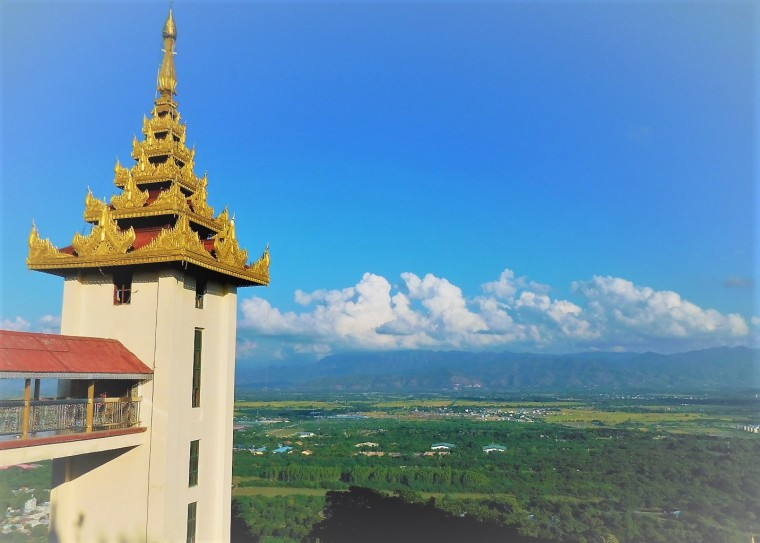 Turm auf dem Mandalay Hill, Myanmar/Burma