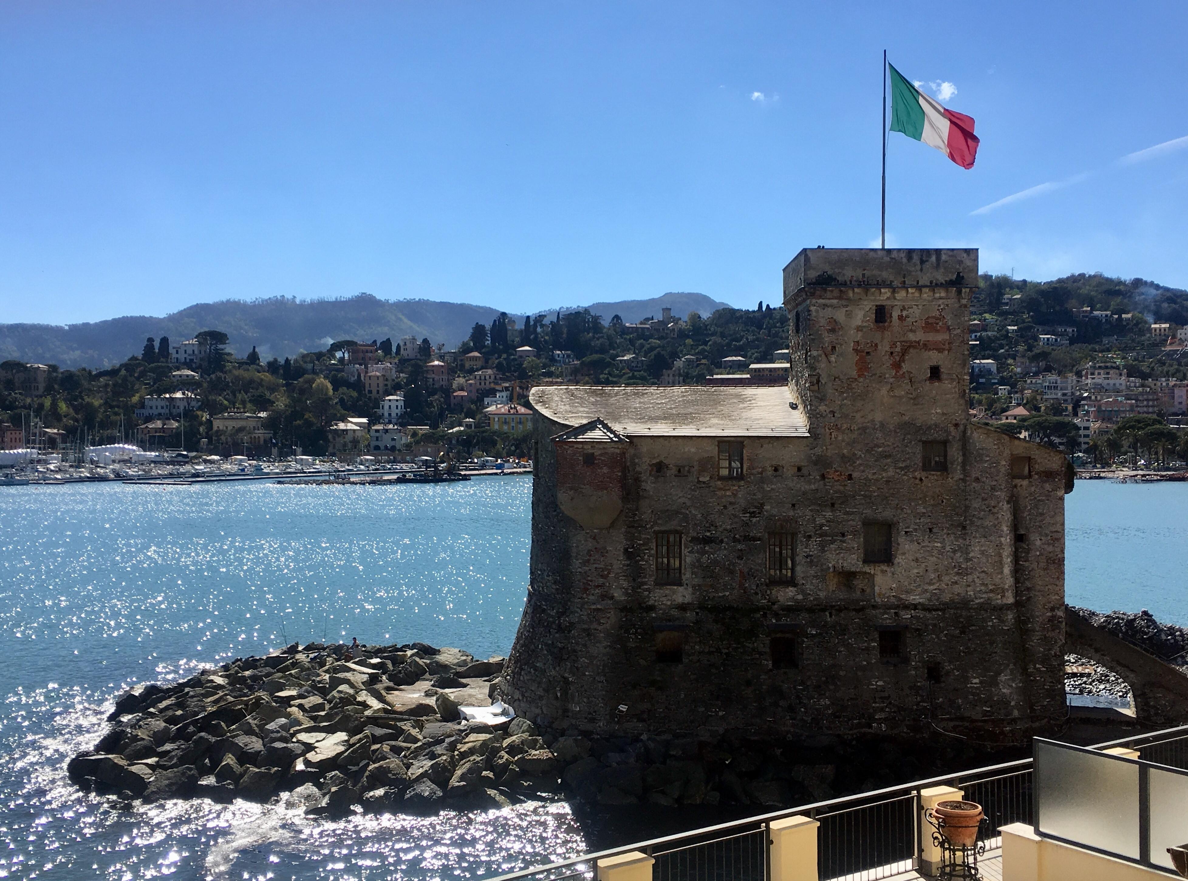 Blick von meinem Zimmer auf Schloss Rapallo