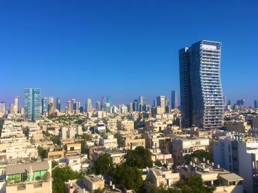 Blick von der Dachterrasse des Boutique-Hotels Melody, Tel Aviv
